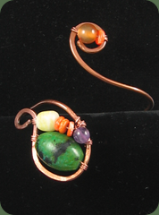 bracelet purple green orange
