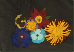 felt flowers