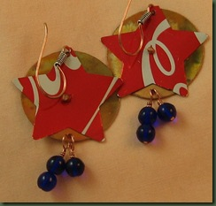 red stars with blue beads